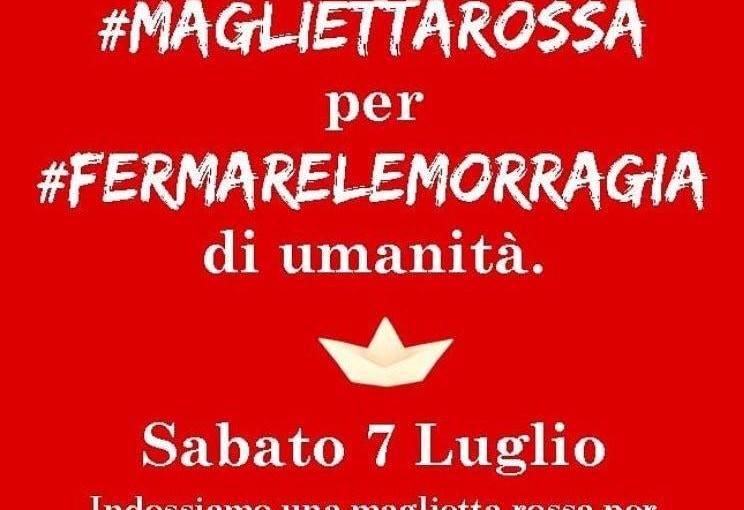 """""""Sabato 7 Luglio indossiamo una maglietta rossa per coniugare sicurezza e solidarietà"""". L'appello di Libera per un Europa cheaccoglie."""